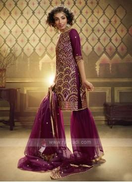 Net Sequins Work Dress Material