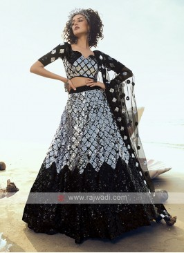 Net Sequins Work Lehenga Choli