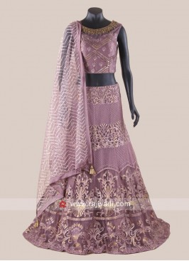 Net Wedding Lehenga Choli with Dupatta