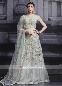 Net Wedding Choli Suit with Dupatta