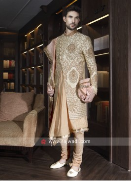 Designer Groom Sherwani With Dupatta