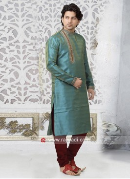 Beautiful Teal Color kurta pajama