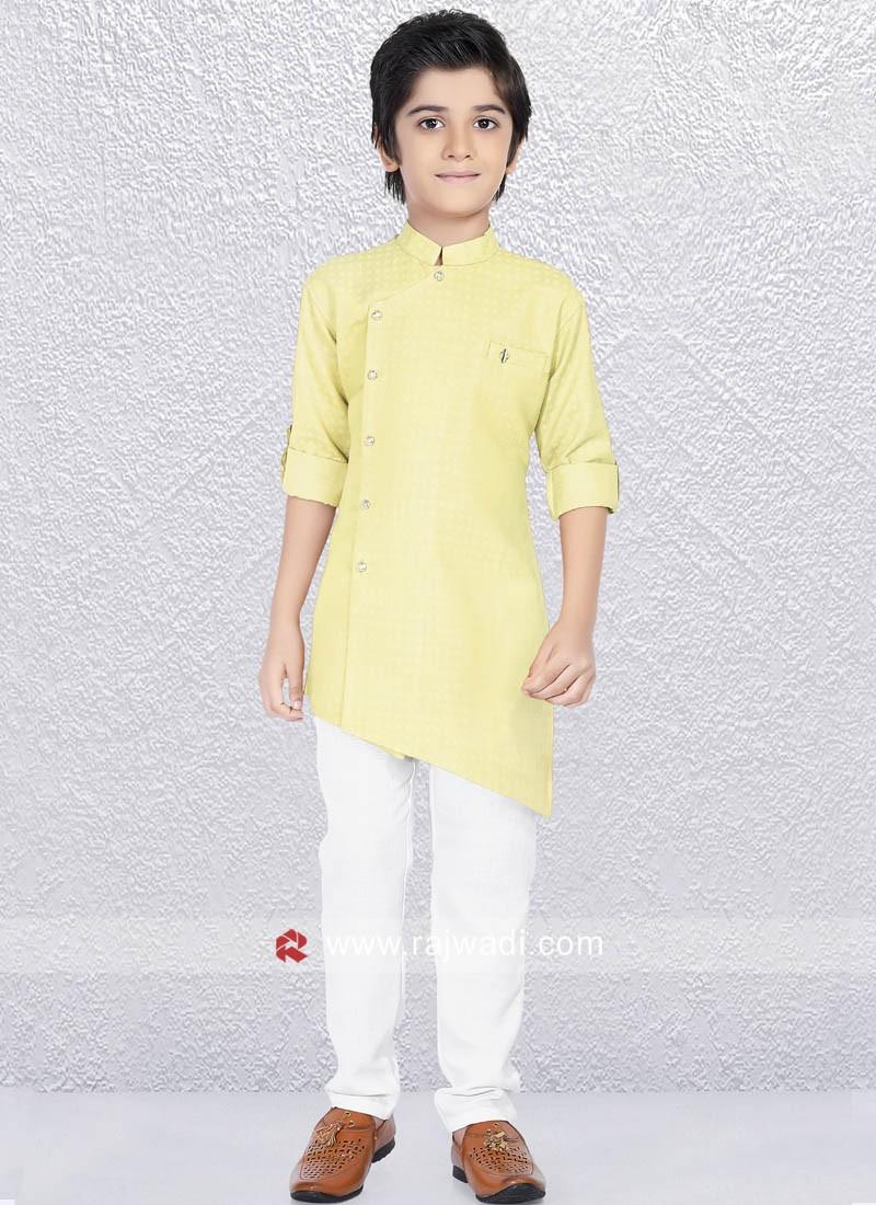 Light Yellow Kurta Pajama