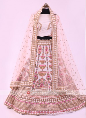 Off-white And Cream Lehenga Choli