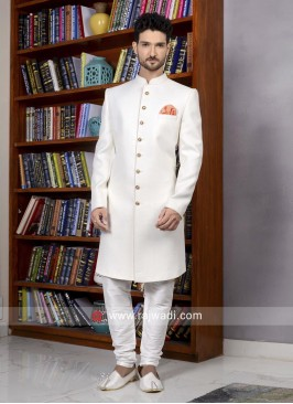Off White Color Indo Western For Wedding