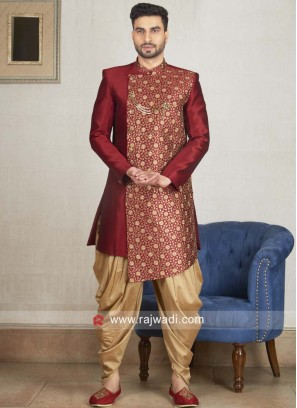 Marvelous Maroon Color Indo Western