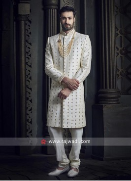 Off White Color Indo Western Sherwani