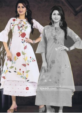 Off White Cotton Kurti