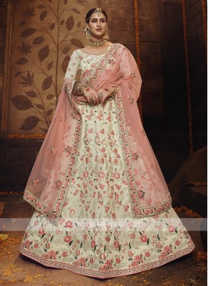 Off White Georgette Lehenga Choli