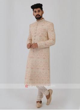 Off-White Grooms Sherwani