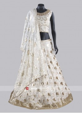 Off White Lucknowi Lehenga Choli