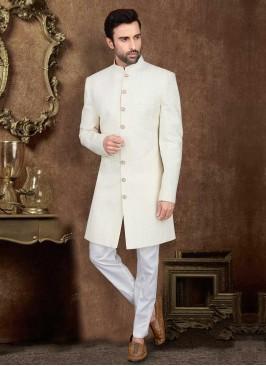 Off-White Lucknowi Work Indo-Western