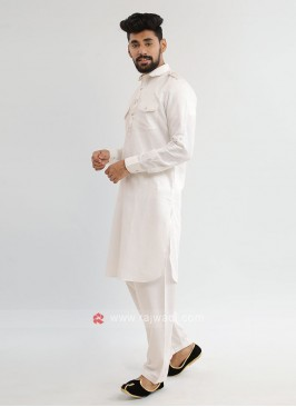 Off-White Pathani Suit