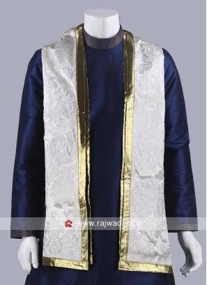 Off White Velvet Fabric Dupatta