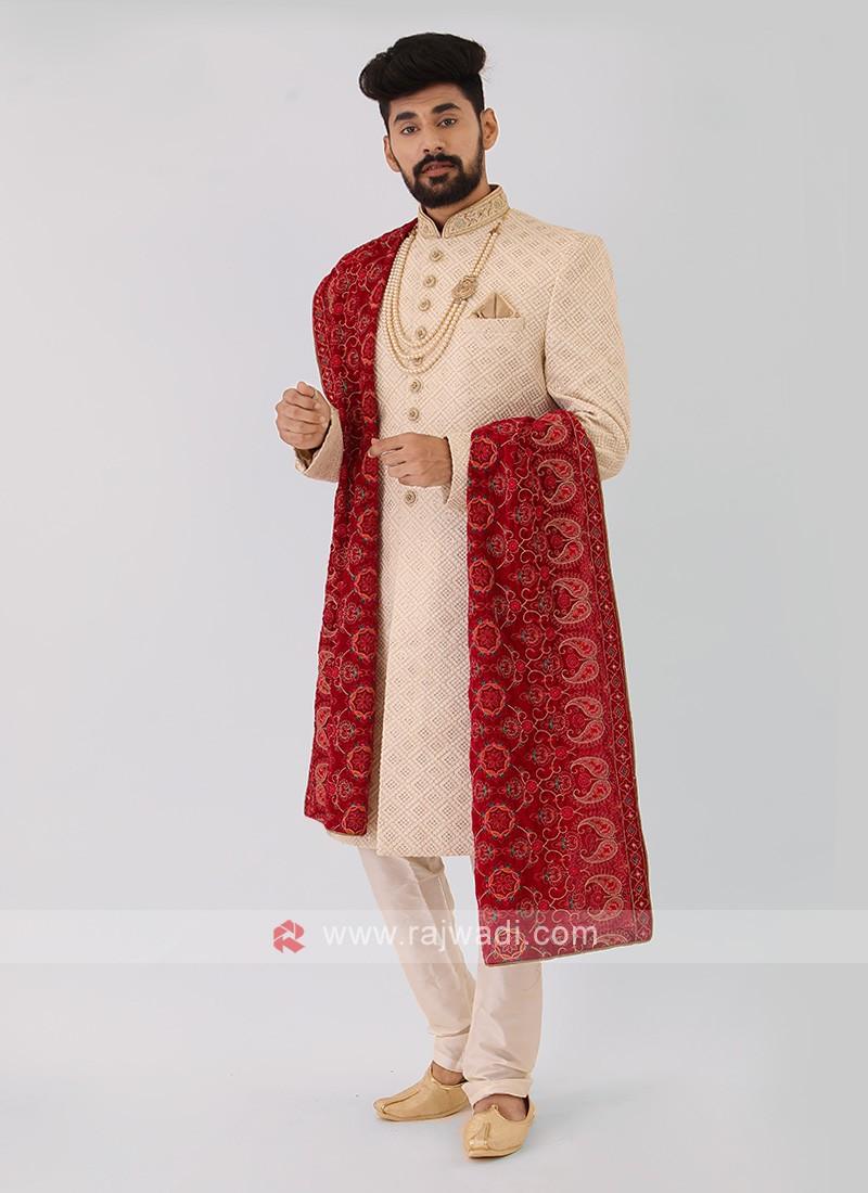 Off-White Wedding Sherwani