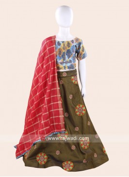 Olive Chaniya Choli with Dupatta