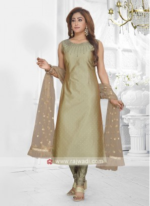olive color churidar suit