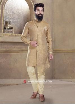 Golden Color Pathani Suit