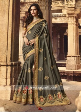 Olive Darb Art Silk Saree