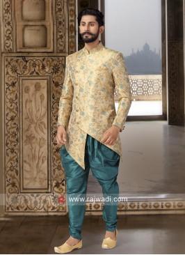Printed Brocade Silk Indo Western