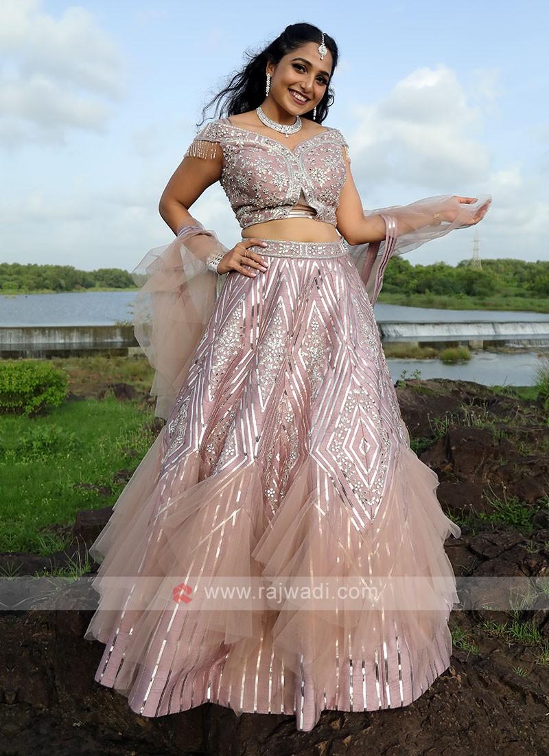 Onion Pink Designer Choli Suit