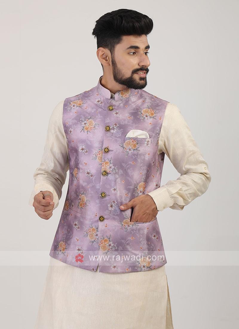 Onion Pink Nehru Jacket
