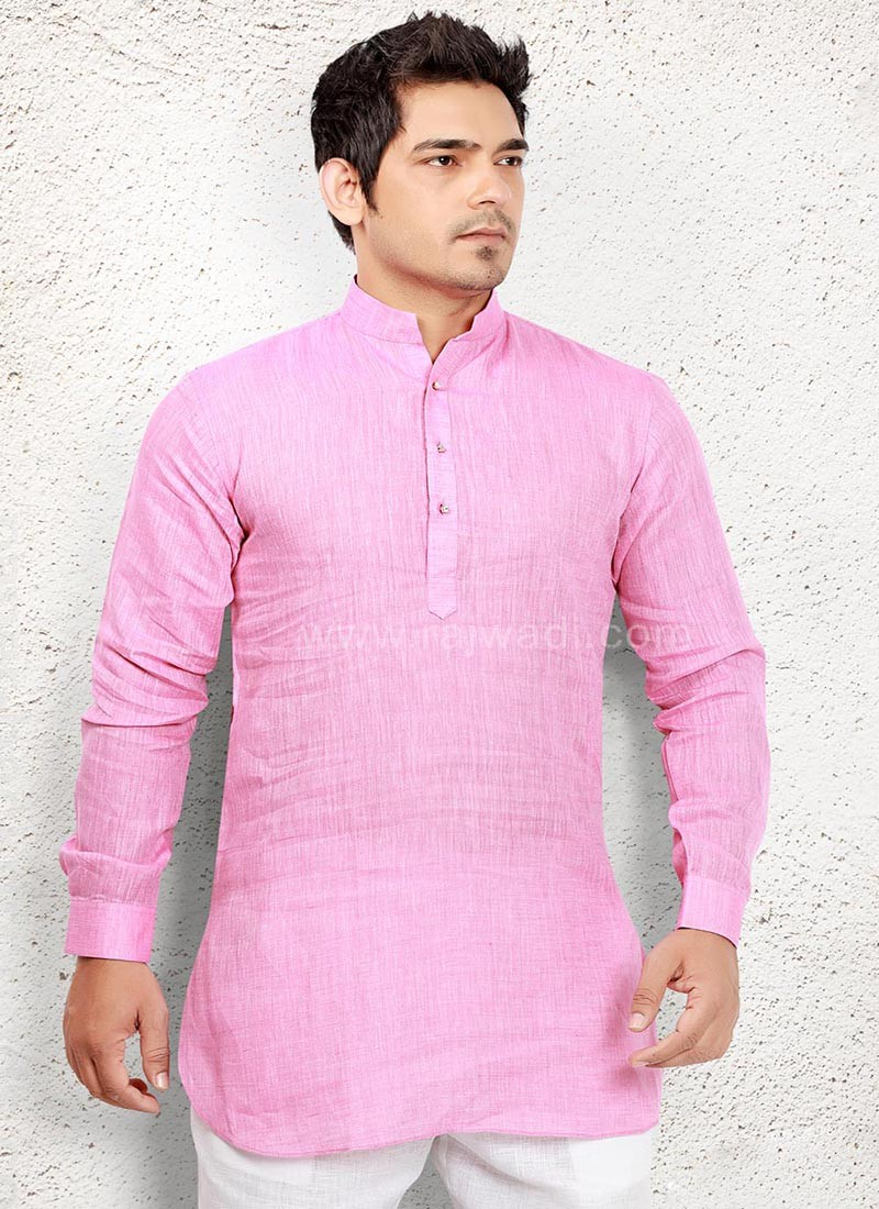 Online Party wear Pink Kurta