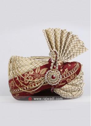 Art Silk Fabric Safa for Wedding