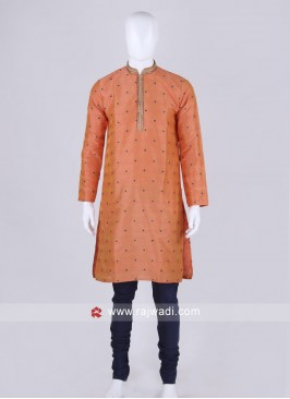 Orange and blue kurta pajama