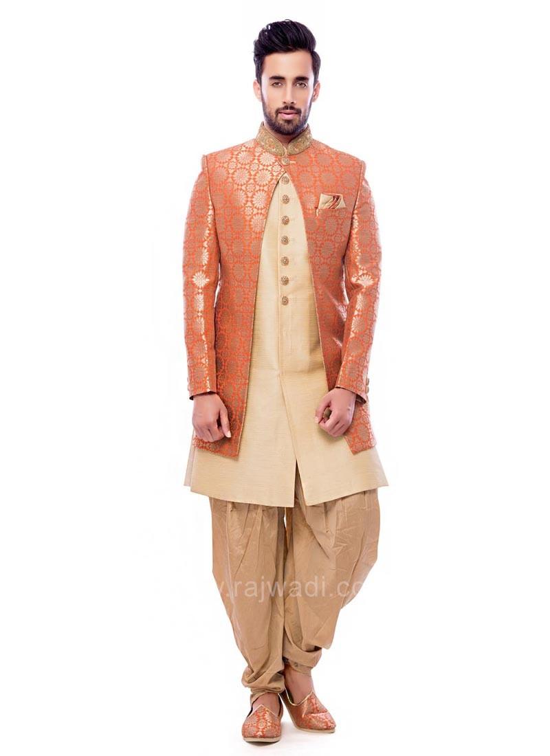 Orange and Golden Color Indo Western