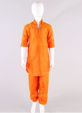 Orange Boys Pathani Suit