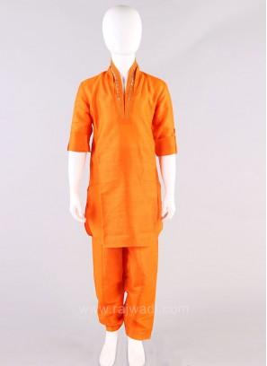 Orange Boys Pathani Suit
