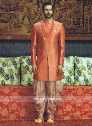 Orange Color Indo Western