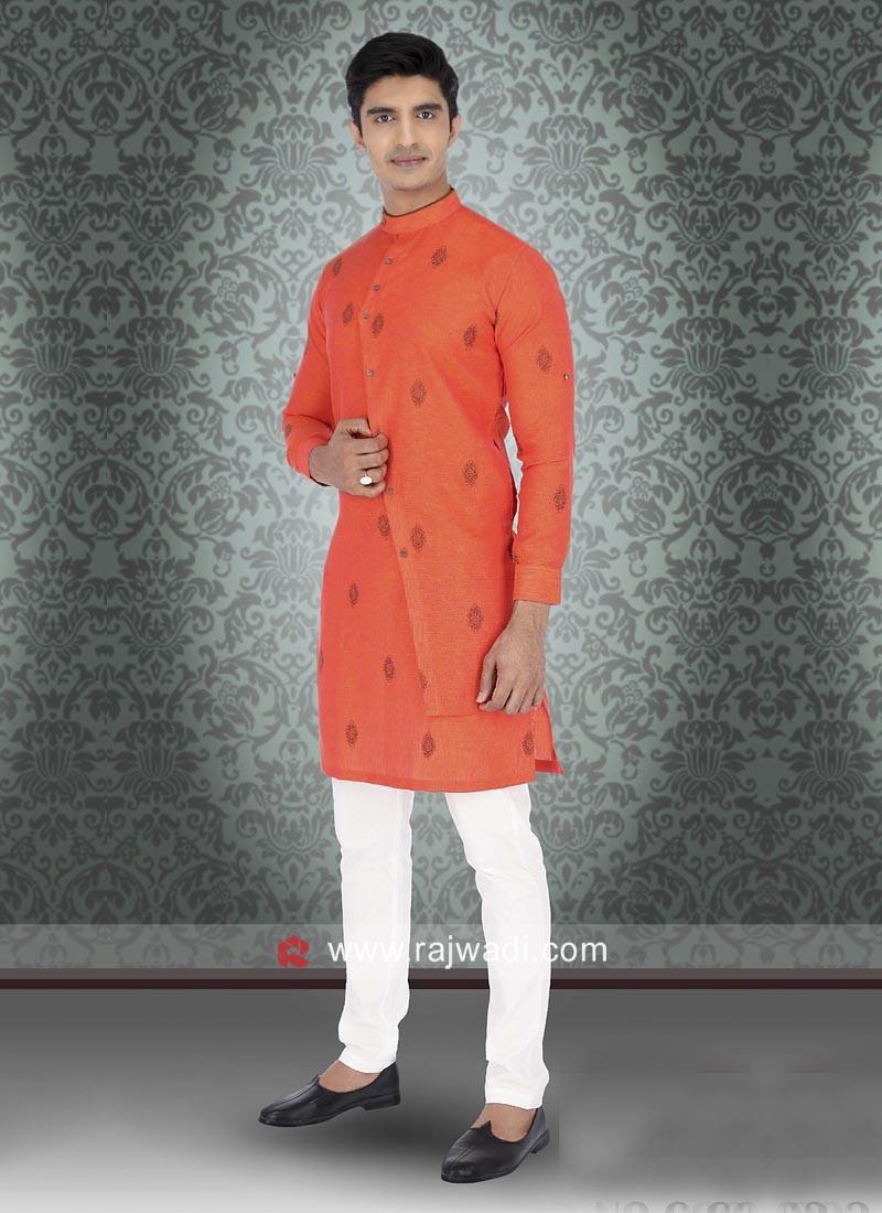 Orange Color Kurta Pajama
