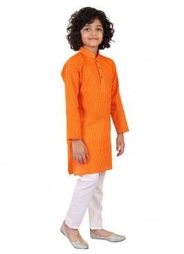 Orange Color Kurta Pajama For Boys