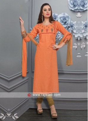 Orange Color Salwar Suit
