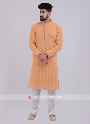 Orange Kurta Pajama