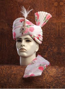 Organza Floral Printed Turban