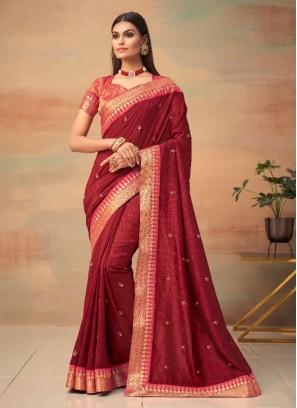 Orphic Vichitra Silk Festival Designer Traditional Saree