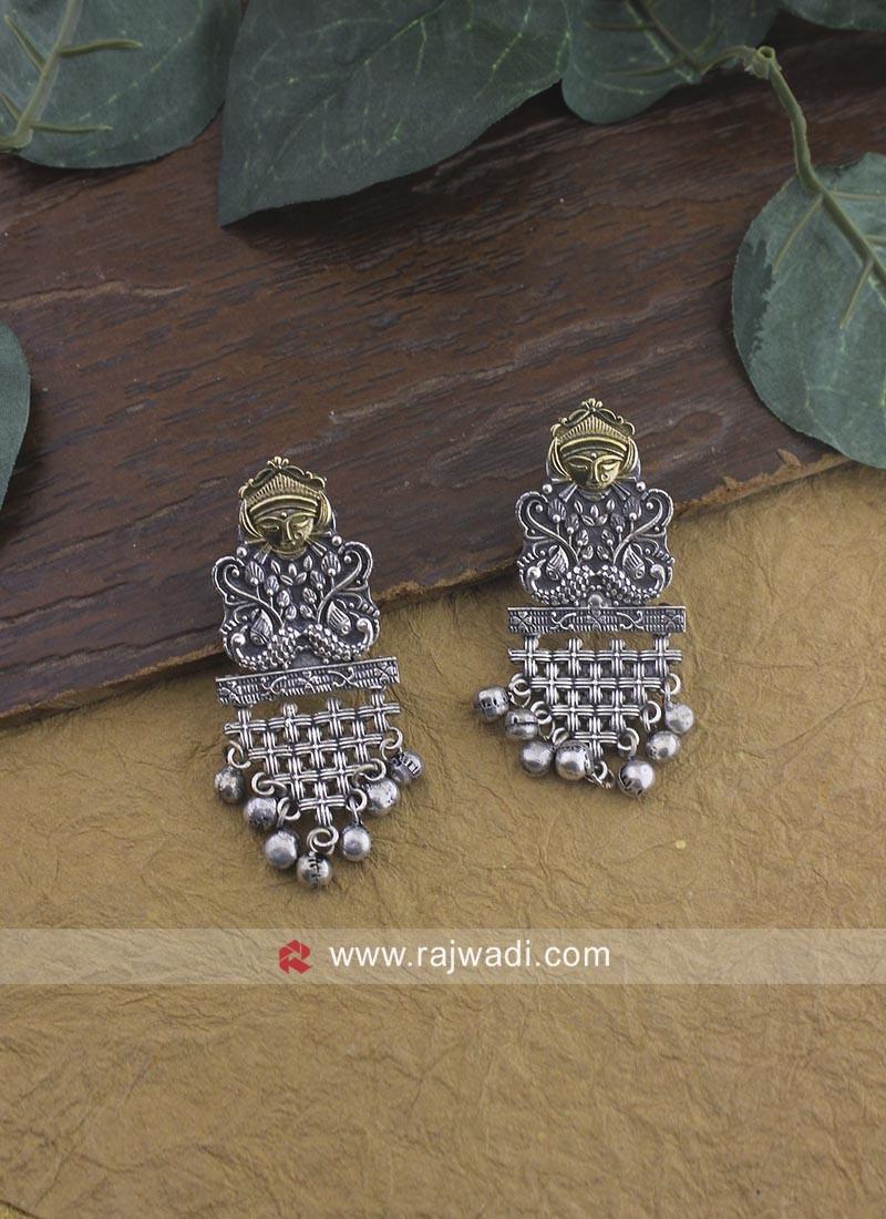 Oxidize Jhumka Earrings