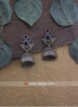 Oxidize Jhumki Earrings