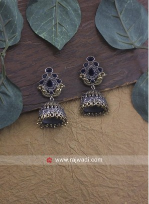 Oxidize Jhumki Earrings