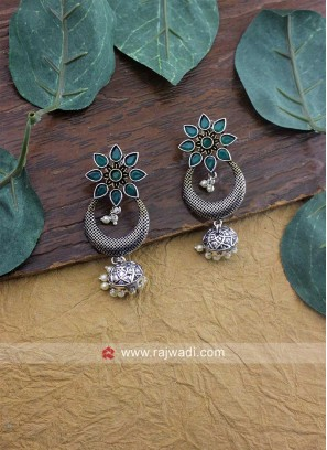 Oxidize Silver Earrings