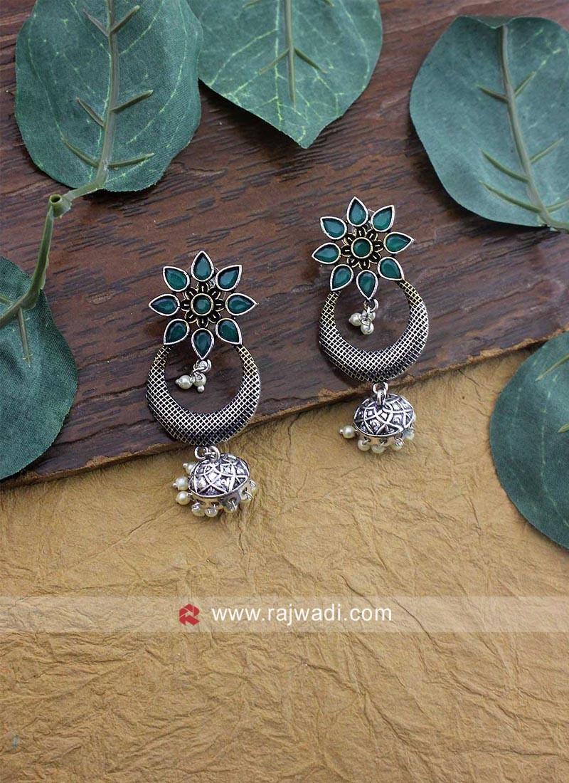 Oxidize Silver Earrings