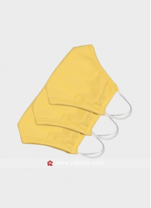 Pack Of 3 Yellow Mask With SSMMS