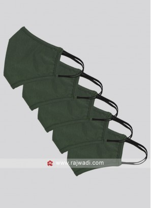 Pack Of 5 Dark Olive Green Mask WIth SSMMS Filter