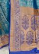 Eye Catching Blue And Royal Blue Color Banarasi Silk Saree