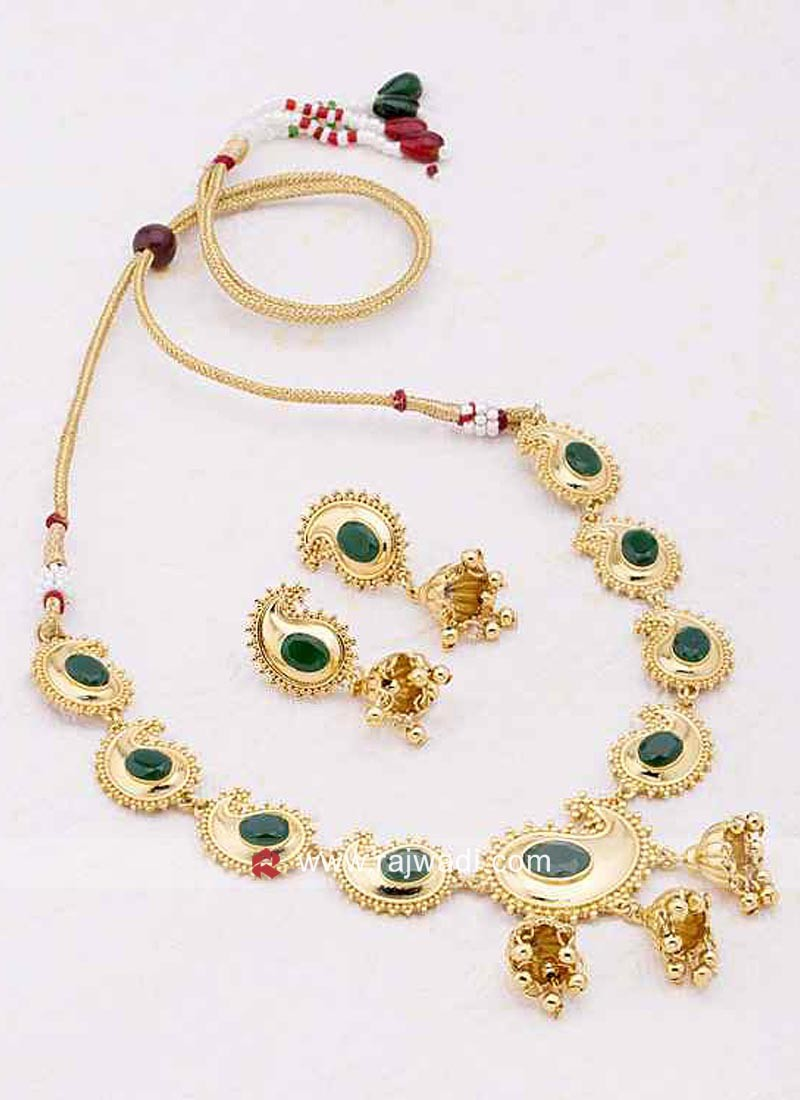 Paisley Gold Plated Necklace Set