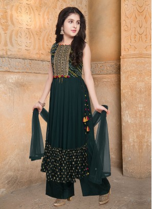 Palazzo Suit In Green Color