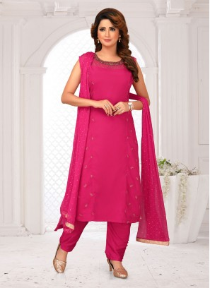 Pant style Suit In Rani Color